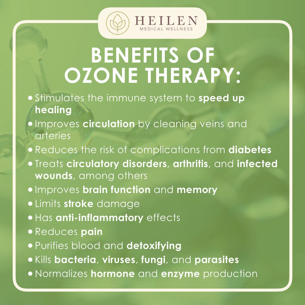 Benefits of Ozone Therapy – Heilen Medical Wellness Center